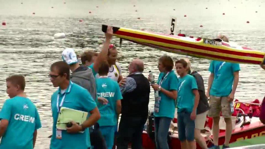 Thomas Konietzko O-Ton - nach Rennen 2 - Kanu WM 2013 Duisburg