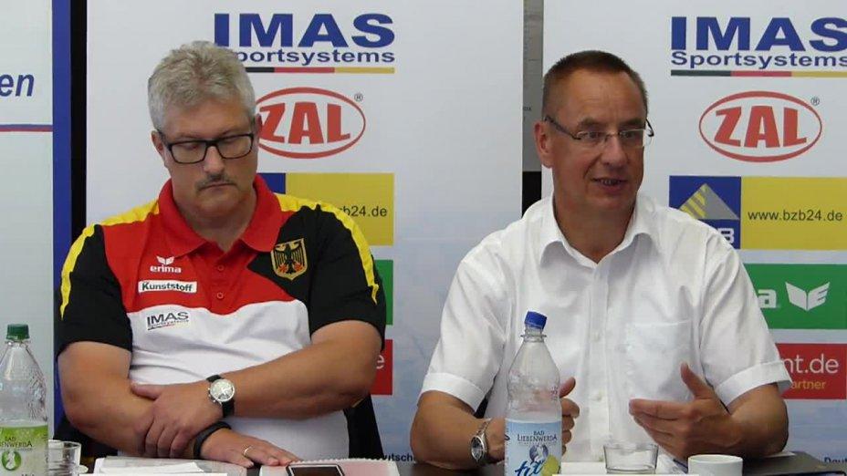 Sportdirektor Jens Kahl und DKV-Präsident Thomas Konietzko zum Nachwuchsleistungssport