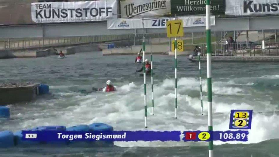Herren C1 B-Finale 21.04.2013 Qualifikation Kanu-Slalom in Markkleeberg