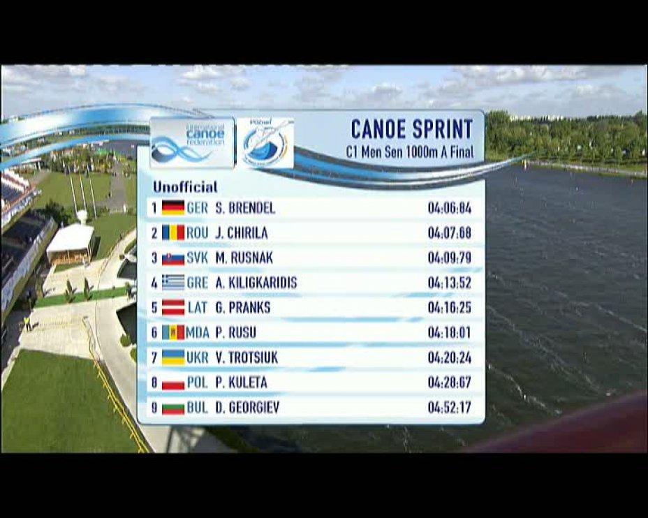 Sebastian Brendel C1 1000m Finale Posen / Poznan 2012