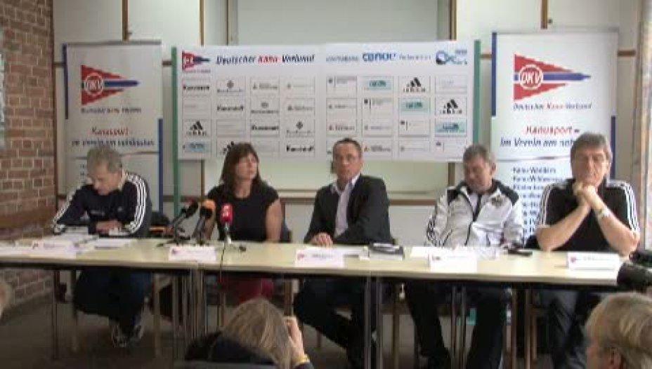 """Pressekonferenz mit Birgit Fischer zum """"Startverbot"""" bei der Nationalen Olympiaqualifikation in Duisburg"""