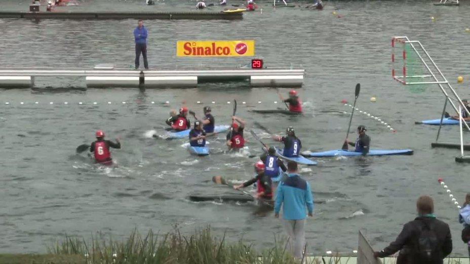 Spiel 135: Conde sur vir gegen ASD Pro Scogli Chiavari bei der European Club Championships Canoepolo 2012