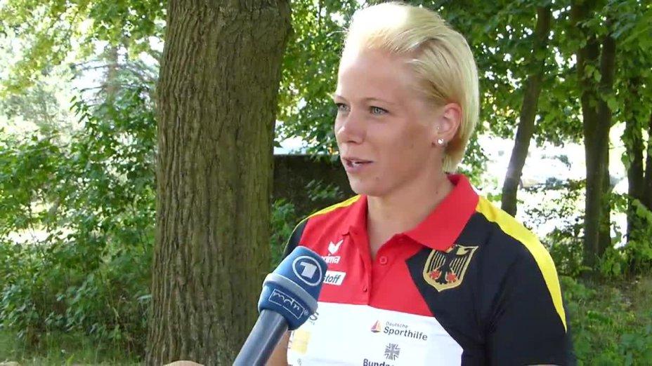 Interview mit Tina Dietze während des Trainingslagers in Kienbaum