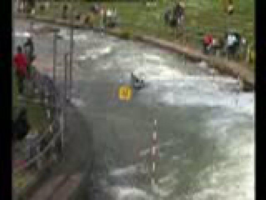 Kanu-Slalom Qualifikation 2009 Augsburg Mira Louen K1 Damen