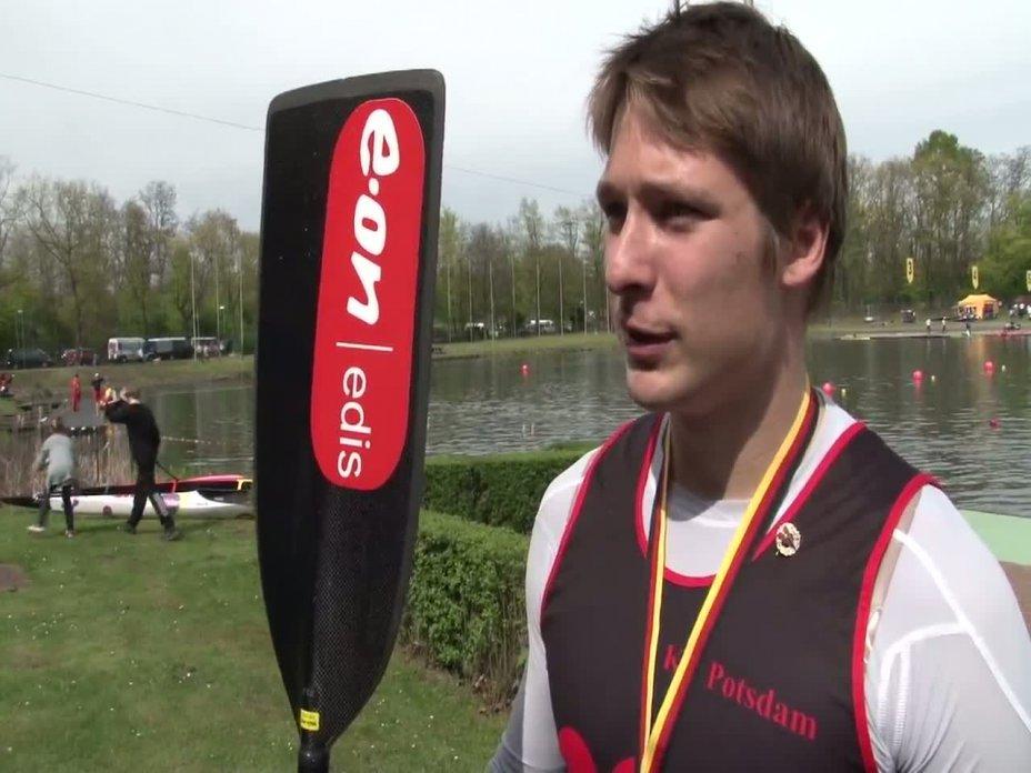 200m Finale Canadier-Herren - Einer DM 2012 Duisburg 28.04.2012