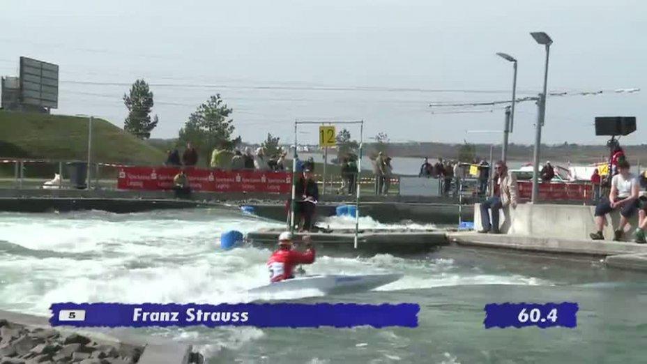 Herren C1 Qualifikationslauf 20.04.2013 Qualifikation Kanu-Slalom in Markkleeberg