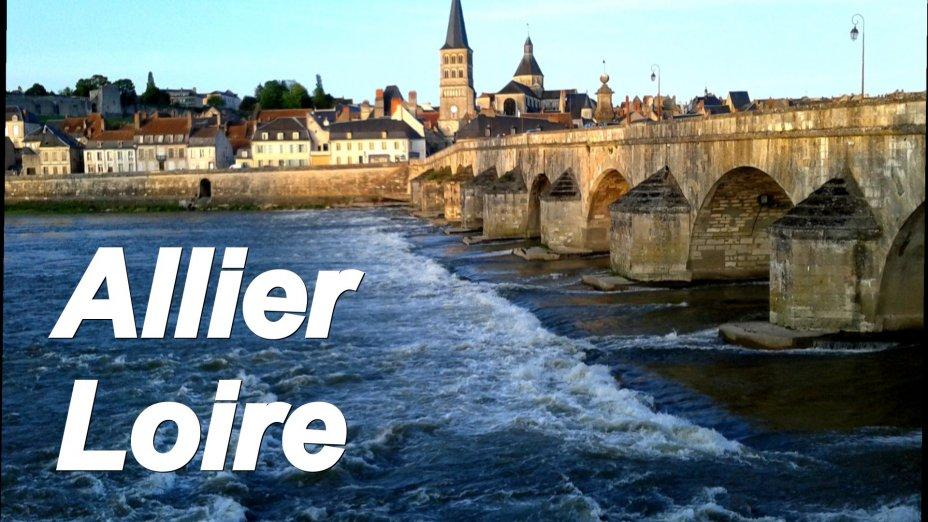 Loire und Allier, Kanufahrten.