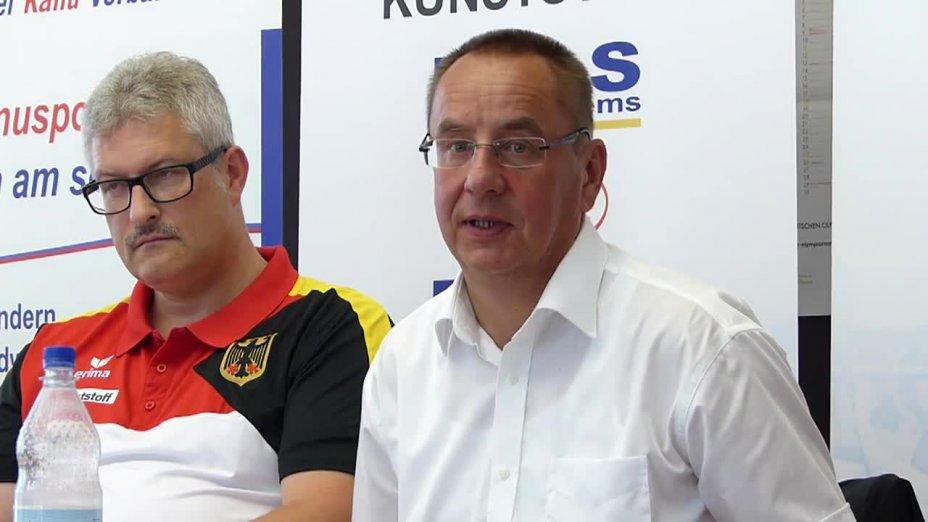 DKV-Präsident Thomas Konietzko zum ICF Canoesprint Cityworldcup