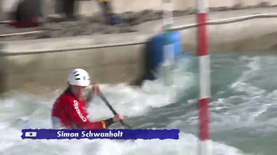 Herren C1 B-Finale 20.04.2013 Qualifikation Kanu-Slalom in Markkleeberg