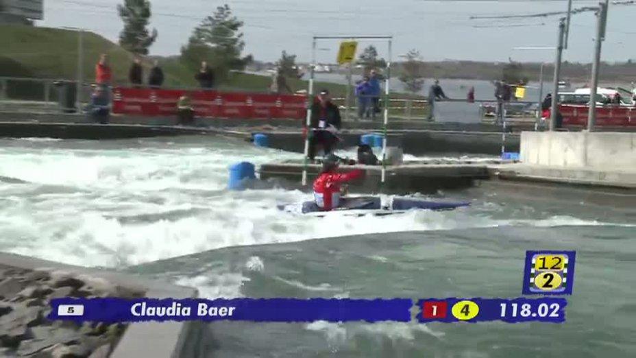 Damen K1 Qualifikationslauf 20.04.2013 Qualifikation Kanu-Slalom in Markkleeberg