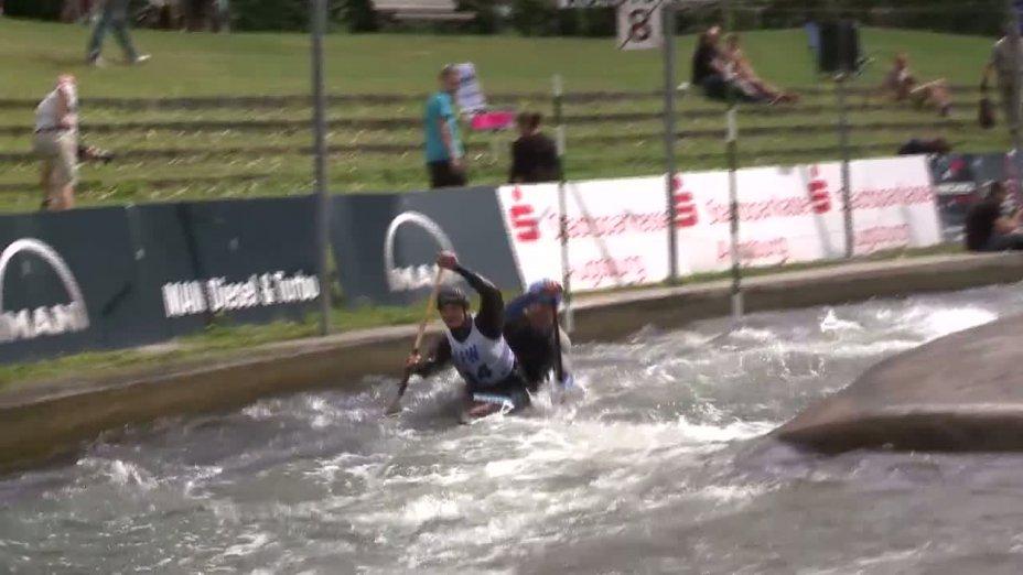 Rennen 8 / Lauf 1, DJJM Augsburg 2012, C2 Junioren männlich