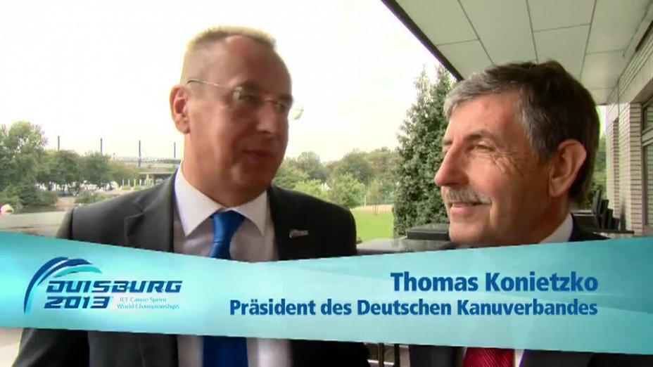 Konietzko / Perurena O-Ton - zur Kanu WM - Kanu WM 2013 Duisburg
