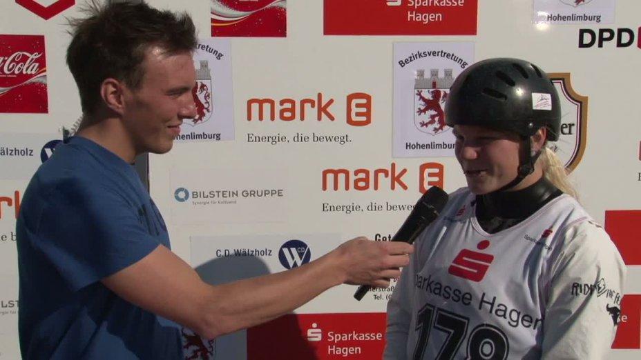 Interview mit Lisa Fritsche - Gewinnerin Damen K1, DM 2012 Hohenlimburg, Flower Ceremony