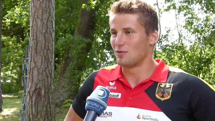 Interview mit Tom Liebscher während des Trainingslagers in Kienbaum