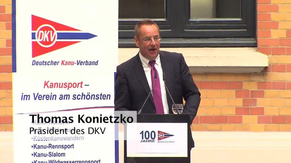 Rede Thomas Konietzko - Festakt zu 100 Jahre DKV