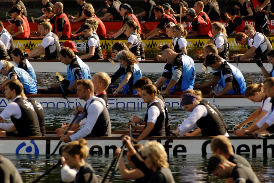 Start DM Drachenboot 2010 Duisburg Wedau