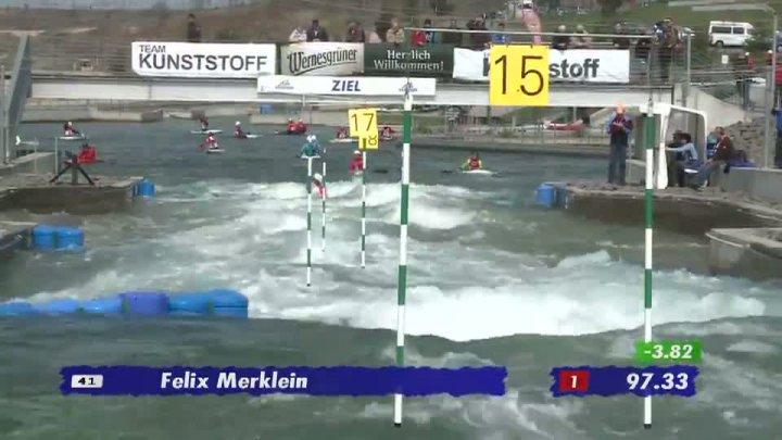 Junioren K1 A-Finale 21.04.2013 Qualifikation Kanu-Slalom in Markkleeberg
