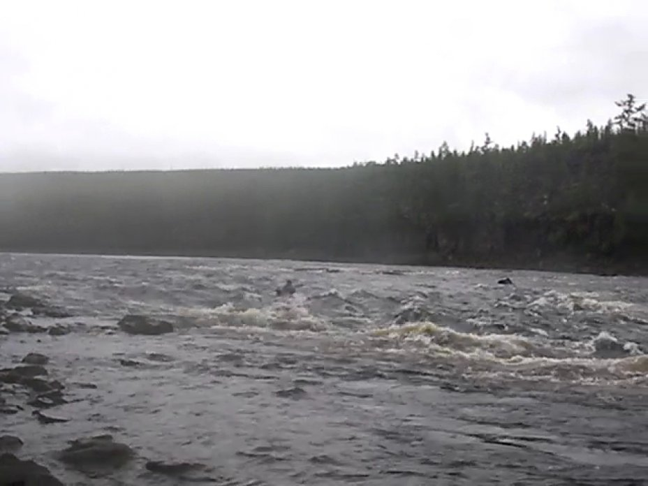 Walter Dick in Sibirien Fluß Markoka
