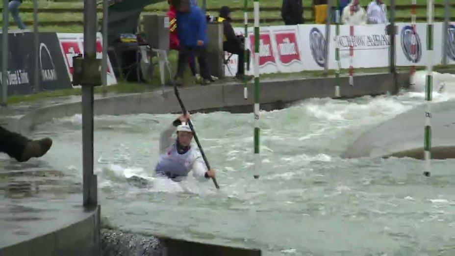Caroline Trompeter - Quali 2015 |Rennen 4|K1-Damen-Finale / Augsburg