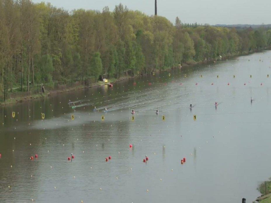 1000m Finale Canadier-Herren - Einer DM 2012 Duisburg 28.04.2012
