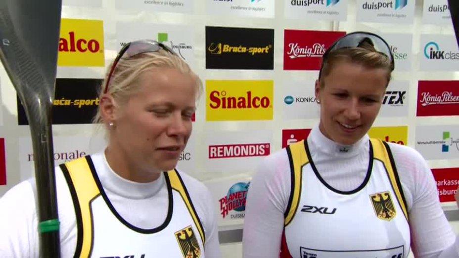 Weber / Dietze O-Ton - K2 200m GOLD - Kanu WM 2013 Duisburg