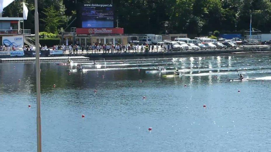 Danuta Kozak wins Final K1 500m - Women - ICF Canoe Sprint Wolrd Cup in Duisburg