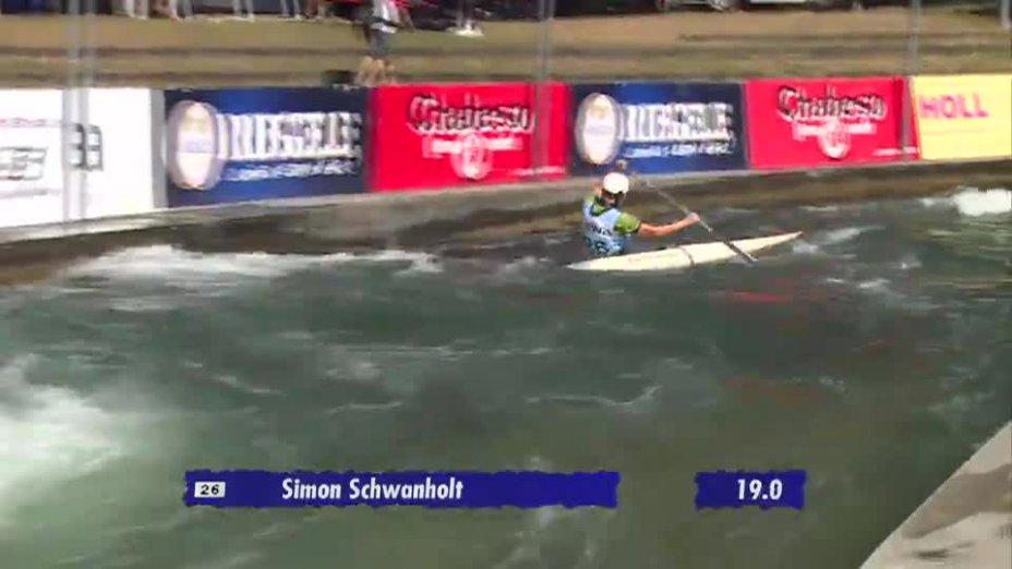 C1 Herren Qualifikation 2. Lauf - Deutsche Kanu-Slalom Meisterschaft 2013