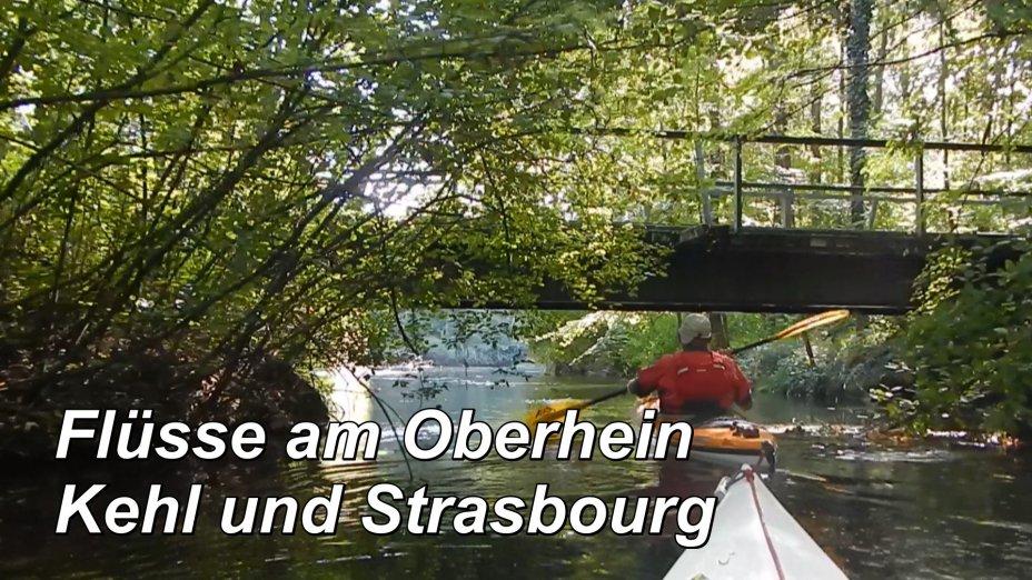 Flüsse am Oberrhein um Kehl und Strasbourg, Groschenwasser, Untere ILL, Brunnenwasser, Taubergießen.