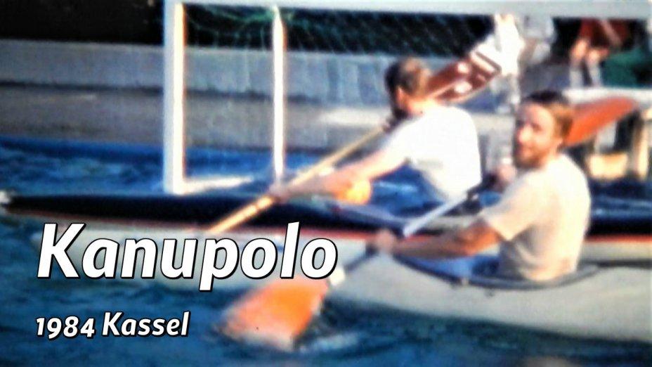 Kanupolo in Kassel, Zissel 1984, Waldschwimmbad Fuldatal-Iringhausen und 1985 Hannover-Limmer Großfeldspiel.