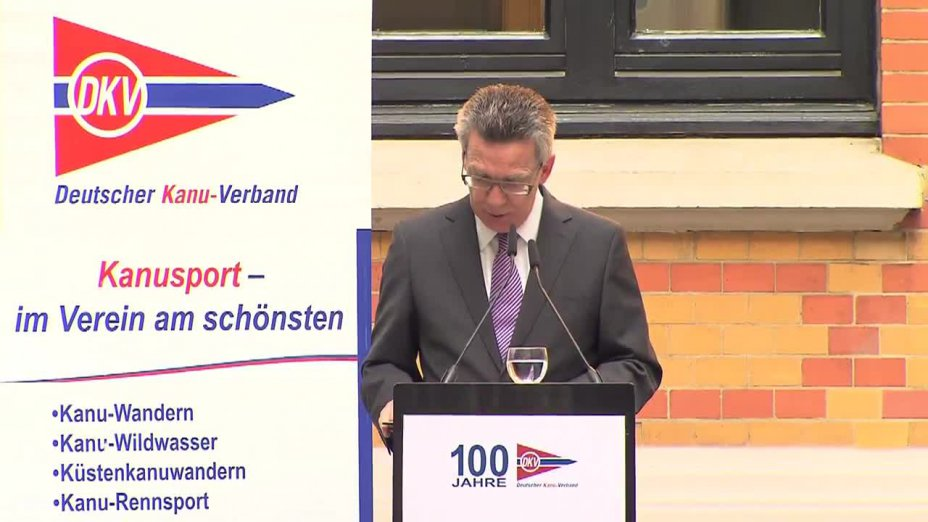 Rede Thomas de Maiziere - Festakt zu 100 Jahre DKV