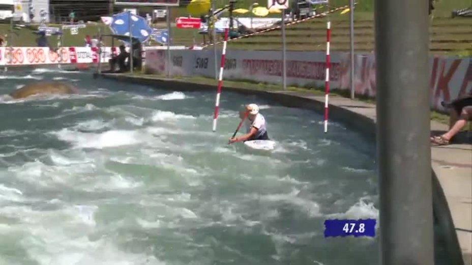 C1 Damen Qualifikation 2. Lauf - Deutsche Kanu-Slalom Meisterschaft 2013