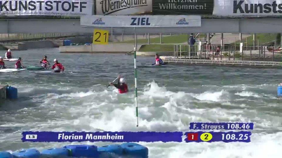 Herren C1 A-Finale 20.04.2013 Qualifikation Kanu-Slalom in Markkleeberg