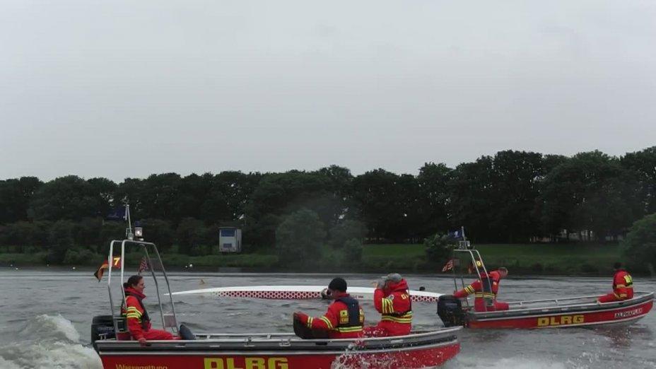 Kenterübung mit dem Drachenboot - Bremen Draggstars