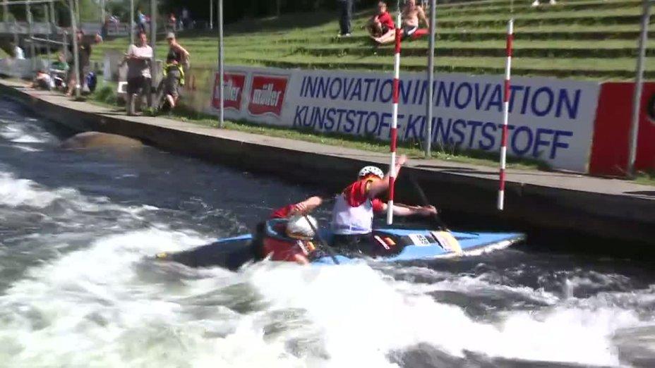 Rennen 8, Semifinale, DJJM 2012 Augsburg, C2 Junioren männlich