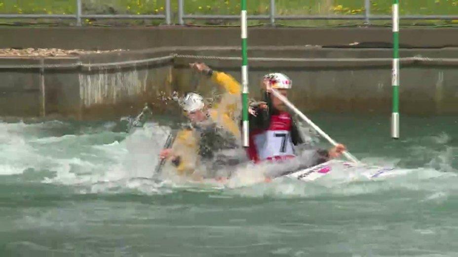 Schröder / Bettge - Quali 2015  Rennen 2 C2-Herren-Finale / Markkleeberg
