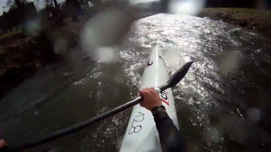 Saisonauftakt der Wildwasserrennsportler auf der Sülz 2012 - (Tobias Bong-Mitfahrt)