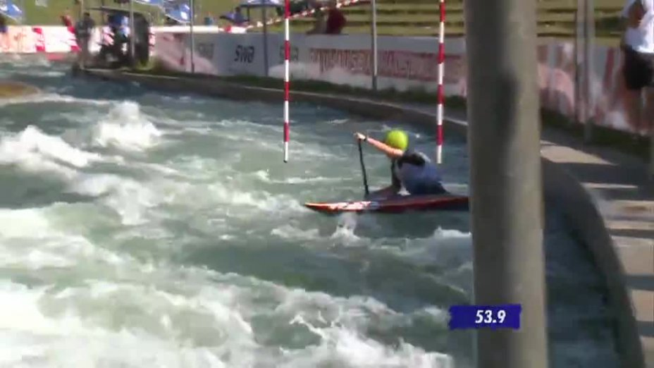 C1 Damen Qualifikation 1. Lauf - Deutsche Kanu-Slalom Meisterschaft 2013