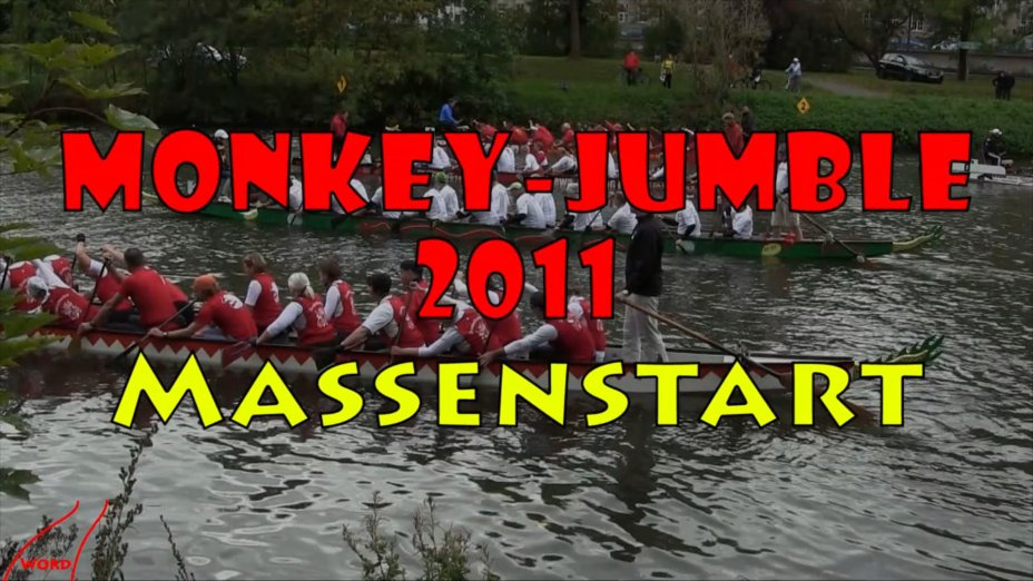 Monkey-Jumble 2011 Drachenboot Massenstart