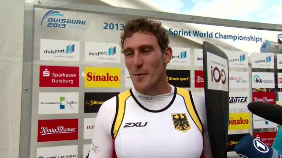 Sebastian Brendel O-Ton - C1 1000m SILBER - Kanu WM 2013 Duisburg